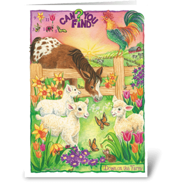 Can You Find? Puzzle Card greeting card