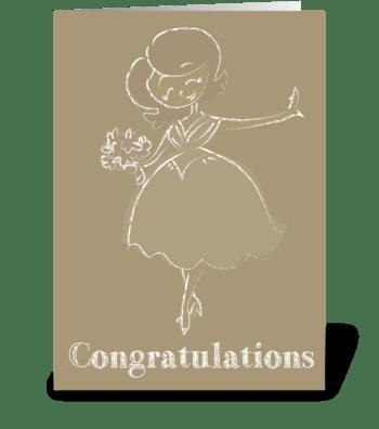 Happy Bride greeting card