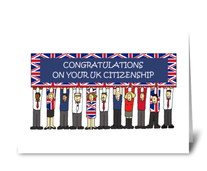 UK Citizenship Congratulations. greeting card