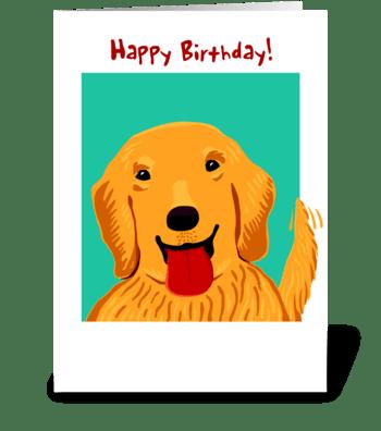 Golden Retreiver Birthday greeting card