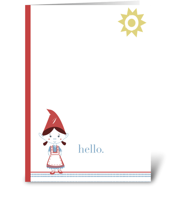Gnome Hello greeting card
