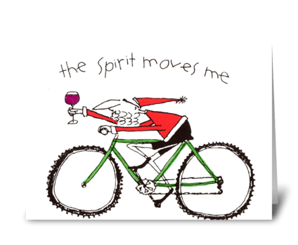 the Spirit moves me greeting card