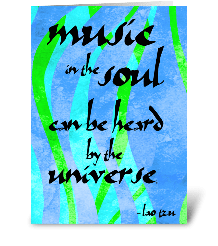 Lao Tzu Quote: Soul greeting card