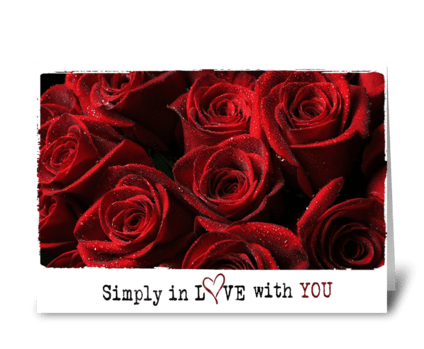 simply in love  greeting card