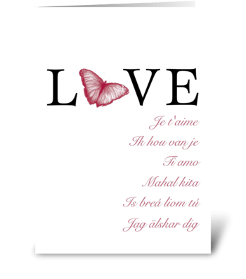Language of Love greeting card