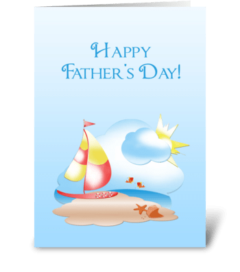 Father's Day Sailboat greeting card