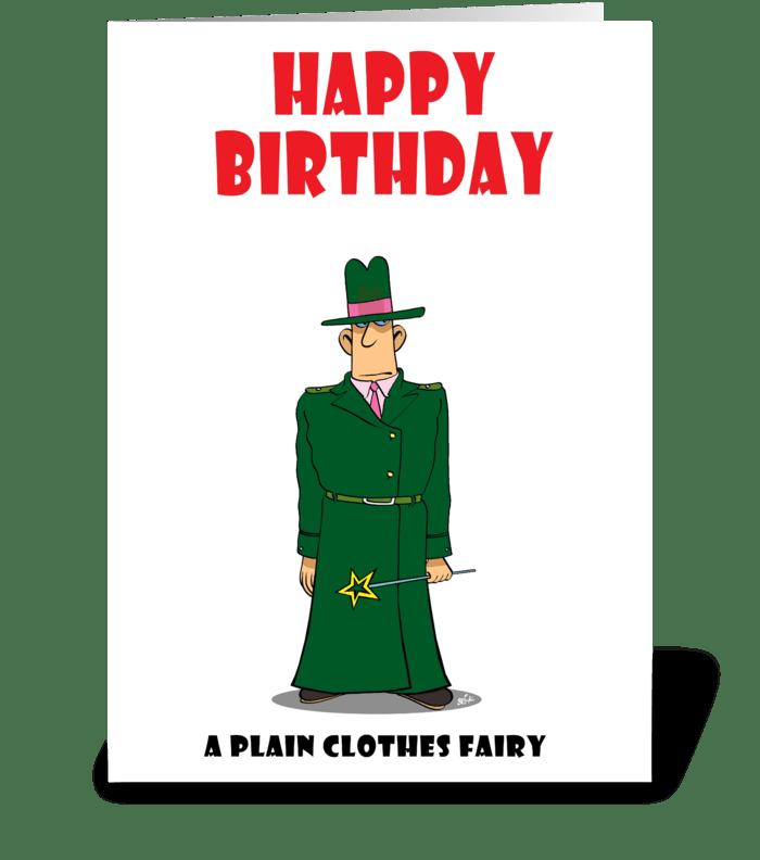 Plain clothes fairy send this greeting card designed by stiktoonz plain clothes fairy greeting card m4hsunfo