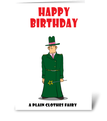 Plain Clothes Fairy greeting card