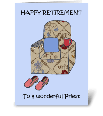 Priest Happy Retirement. greeting card