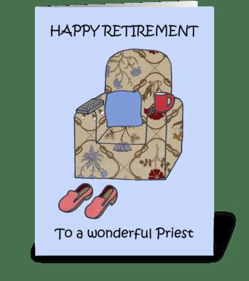 Priest Happy Retirement. greeting card