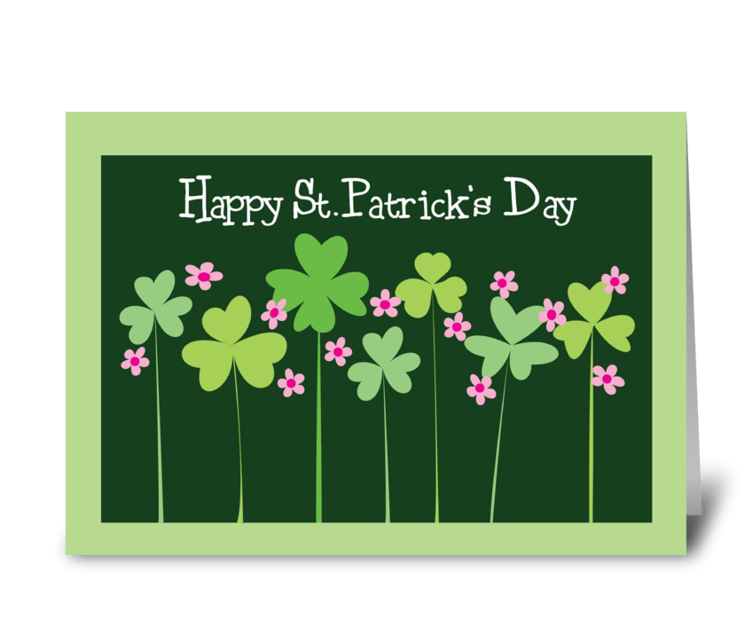 Shamrocks of Spring greeting card