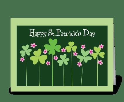 Shamrocks of Spring greeting card