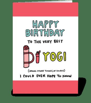 Happy Birthday Yoga greeting card
