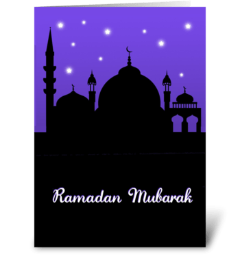 Ramadan Mubarak - Mosque greeting card