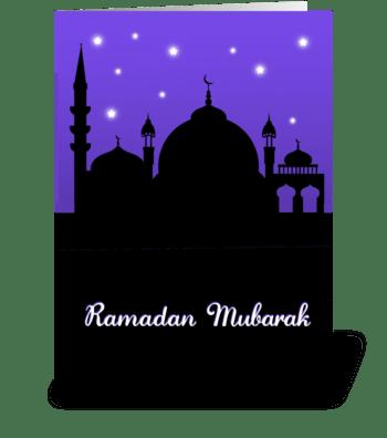 Ramadan Mubarak - Mosque greeting card