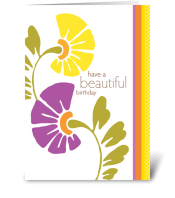 have a beautiful birthday greeting card