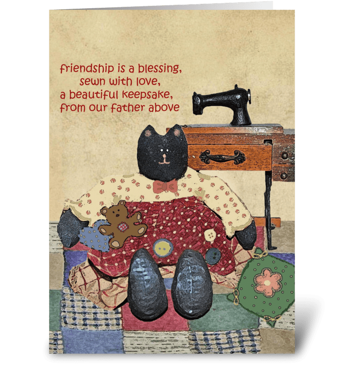 Friendship is a blessing greeting card
