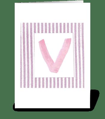 V - Baby Girl greeting card