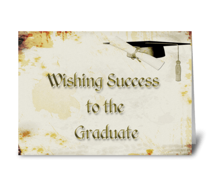 Graduation Grunge Congratulations greeting card