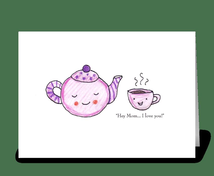 Teapot Mom greeting card