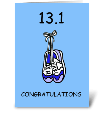 Half marathon congratulations. greeting card
