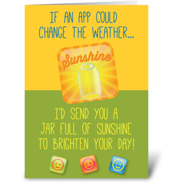 Sunshine App greeting card