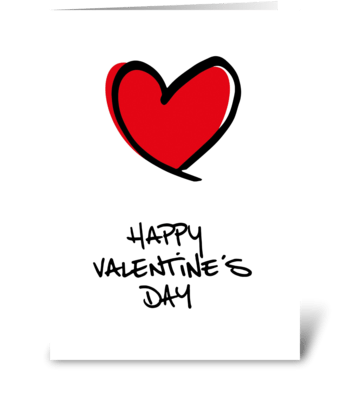 Big Red Heart Happy Valentine's Day greeting card