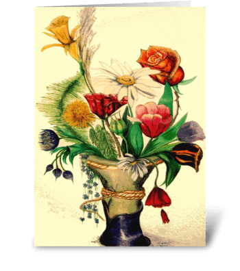 A Gathering of Flowers greeting card