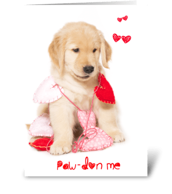 Can I whisker you away? puppy greeting card
