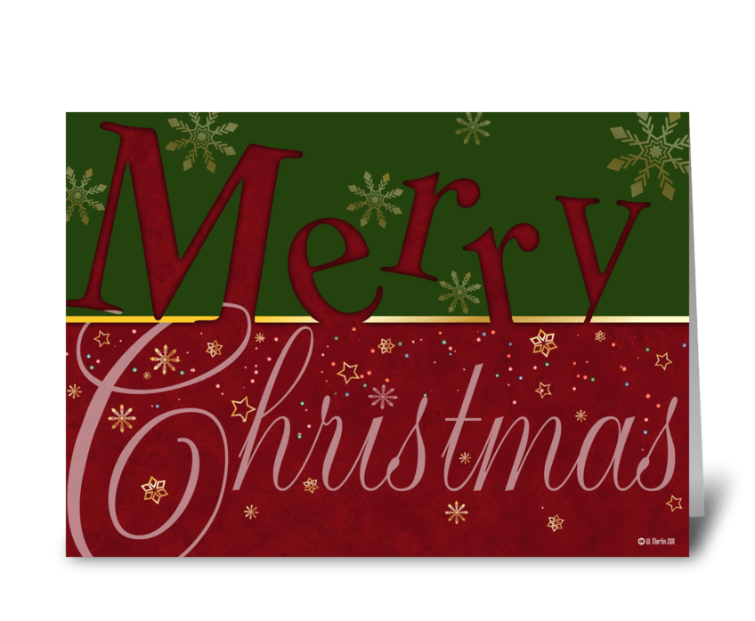 Merry Christmas Christmas Card greeting card
