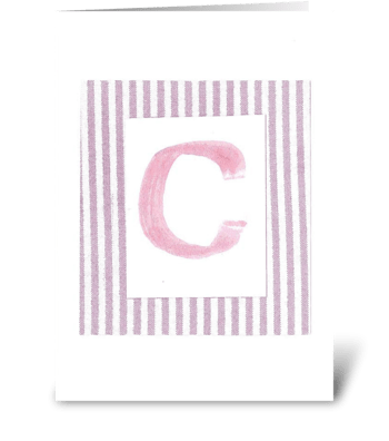 C - Baby Girl greeting card