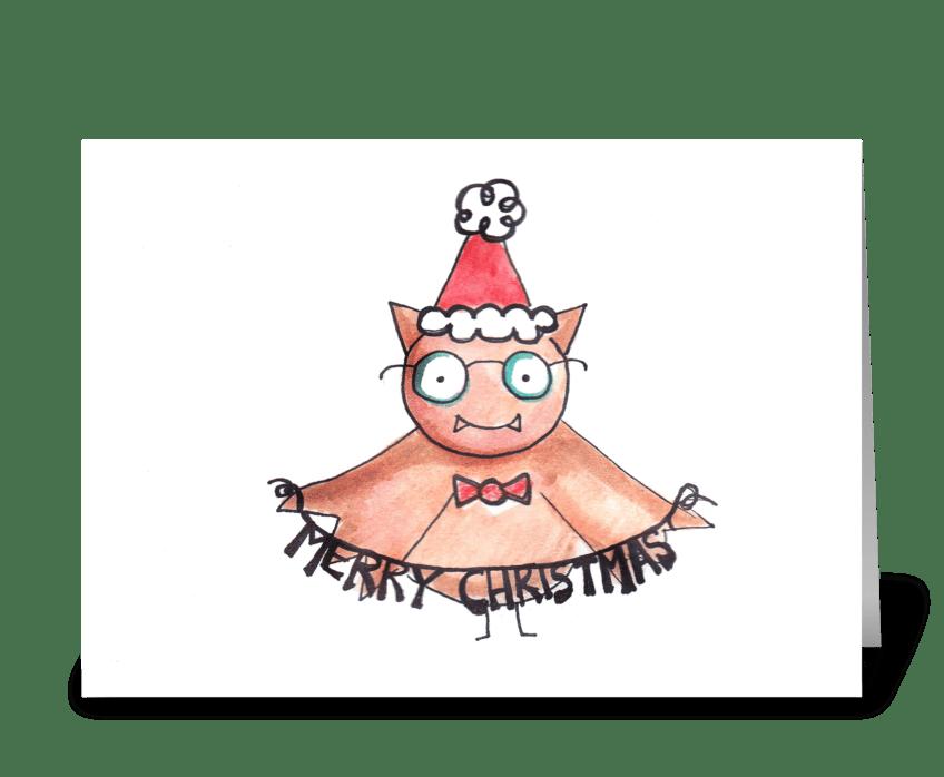 Christmas Bat greeting card