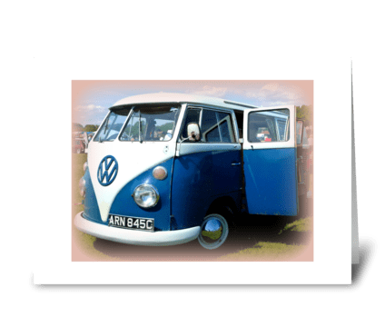 1965 VW Splitscreen camper greeting card