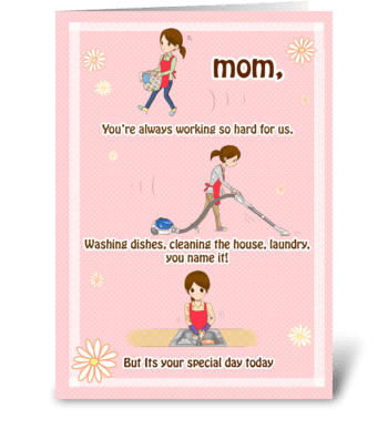 Thanks for everything Mom! greeting card