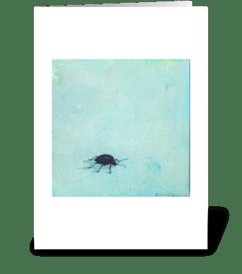 black beetle greeting card