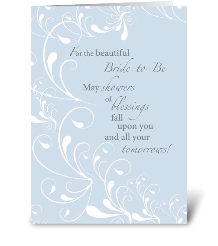 Bridal Shower Congratulations Swirls greeting card