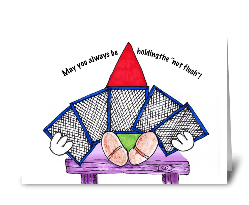 Gnome birthday card greeting card