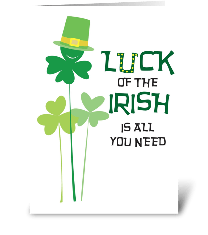 Irish is all you need greeting card