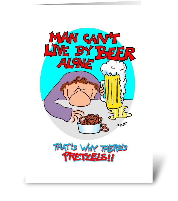 Beer Alone greeting card