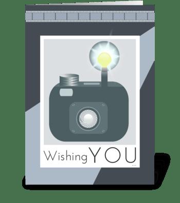 Happy Birthday in a Flash greeting card