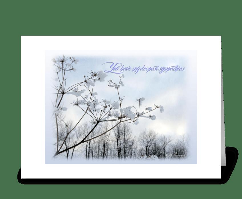 Sympathy greeting card