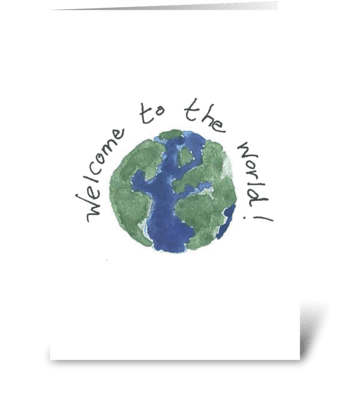 Welcome to the World! - Watercolor greeting card