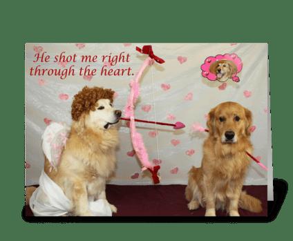Cupid's Arrow greeting card