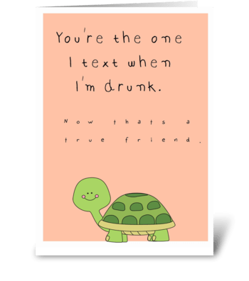 Funny Friendship card greeting card