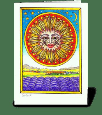 Soleil greeting card