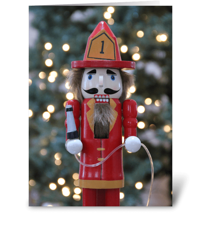 Firefighter nutcracker - Send this greeting card designed by Gnomes ...