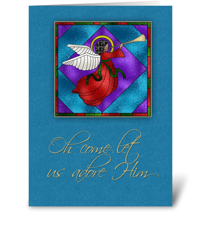 Dark Skinned Angel, Religious Christmas - Send this greeting card ...
