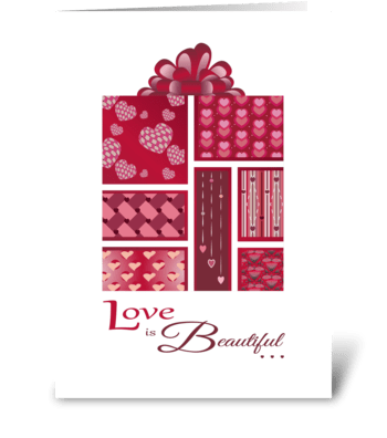 Love is Beautiful Package - Anniversary  greeting card