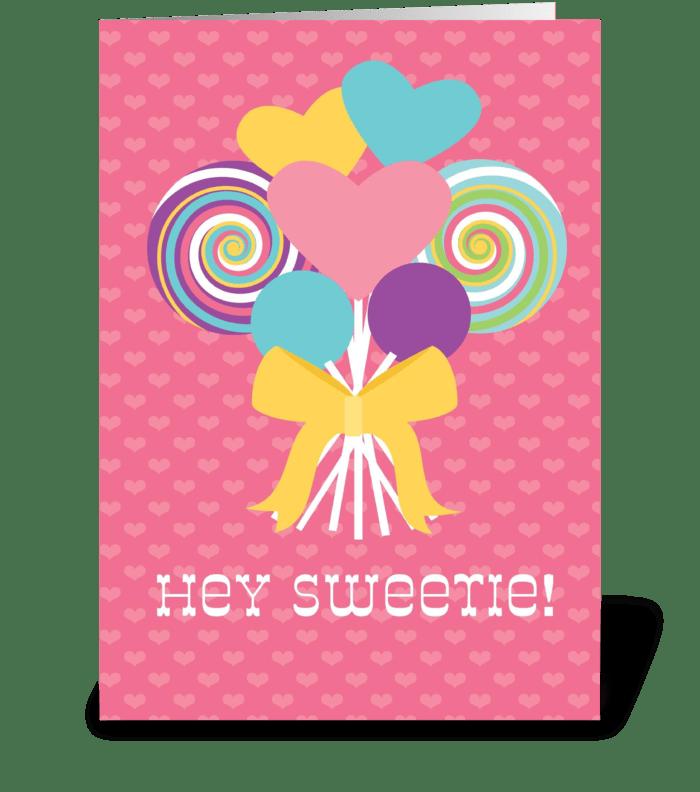 Lollipop Love greeting card