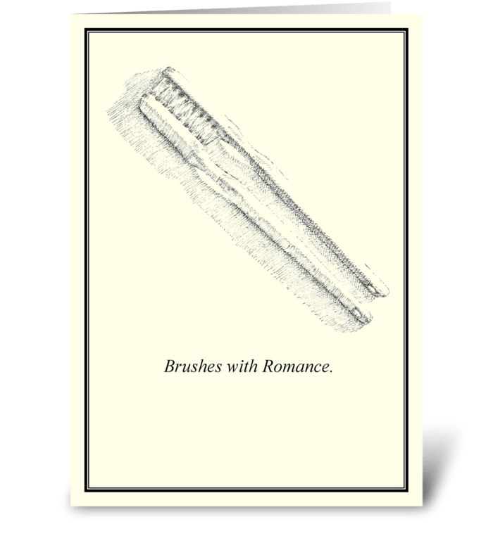 Brushes with Romance. greeting card